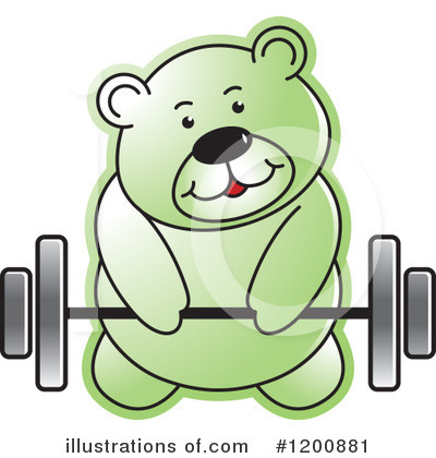 Weightlifting Clipart #1200881 by Lal Perera