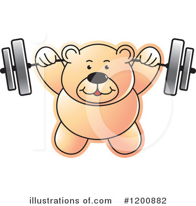 Weightlifting Clipart #1200882 by Lal Perera