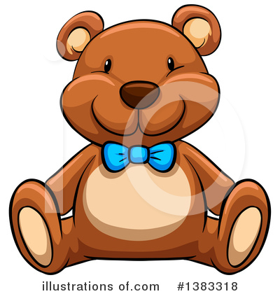 Royalty-Free (RF) Teddy Bear Clipart Illustration by Graphics RF - Stock Sample #1383318