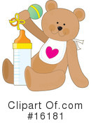 Royalty-Free (RF) Teddy Bear Clipart Illustration #16181