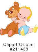 Royalty-Free (RF) teddy bear Clipart Illustration #211438
