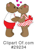 Royalty-Free (RF) teddy bear Clipart Illustration #29234