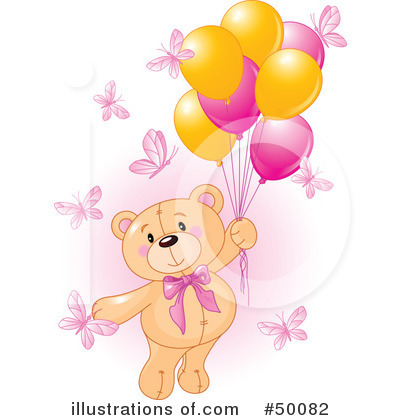 Royalty-Free (RF) Teddy Bear Clipart Illustration by Pushkin - Stock Sample #50082