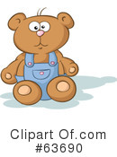 Royalty-Free (RF) teddy bear Clipart Illustration #63690