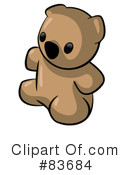 Royalty-Free (RF) teddy bear Clipart Illustration #83684