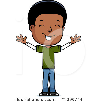 Black Boy Clipart #1096744 by Cory Thoman
