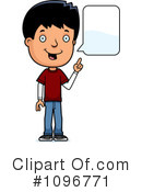 Royalty-Free (RF) teen boy Clipart Illustration #1096771