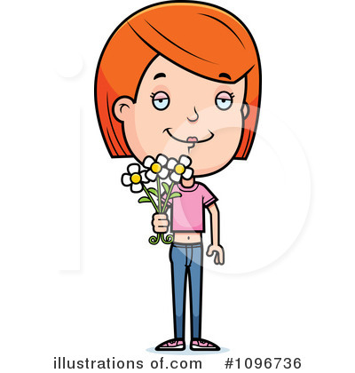 Teen Girl Clipart #1096736 by Cory Thoman