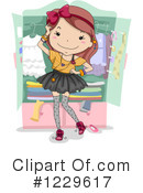 Royalty-Free (RF) Teen Girl Clipart Illustration #1229617