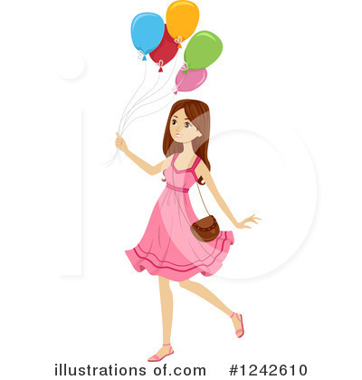 Party Balloons Clipart #1242610 by BNP Design Studio