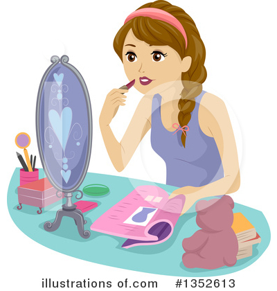 Teen Girl Clipart #1352613 by BNP Design Studio