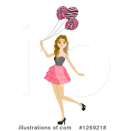 Party Balloons Clipart #1269218 by BNP Design Studio