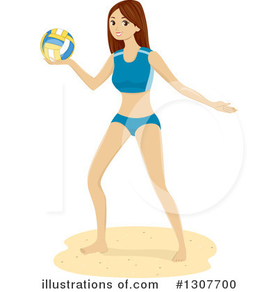 Volleyball Clipart #1307700 by BNP Design Studio