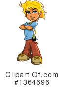 Teenager Clipart #1364696 by Clip Art Mascots