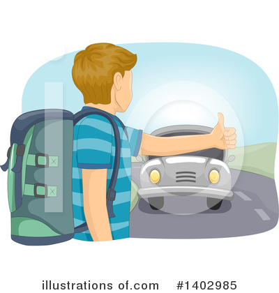 Hitchhiker Clipart #1402985 by BNP Design Studio