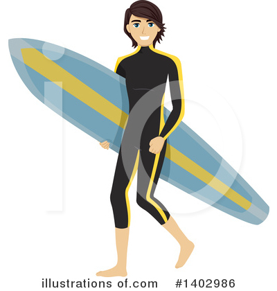 Surfer Clipart #1402986 by BNP Design Studio