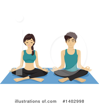 Yoga Clipart #1402998 by BNP Design Studio