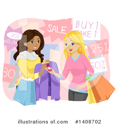 Shopping Bags Clipart #1408702 by BNP Design Studio