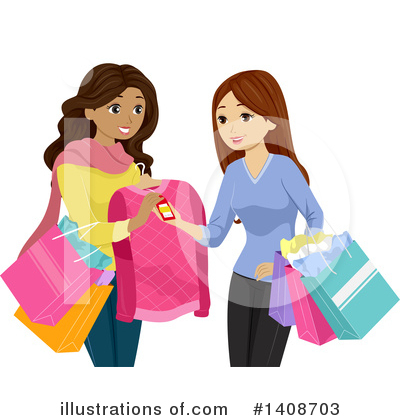 Shopping Bags Clipart #1408703 by BNP Design Studio