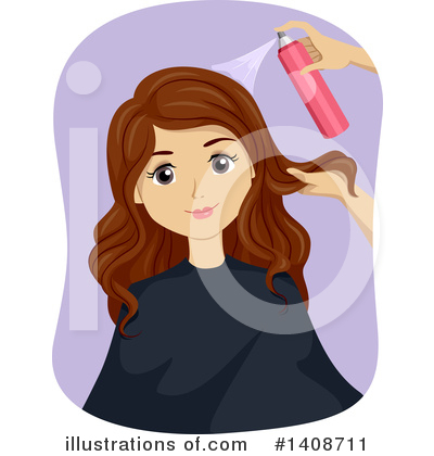 Hairstyle Clipart #1408711 by BNP Design Studio