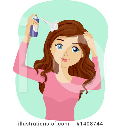 Hair Care Clipart #1408744 by BNP Design Studio