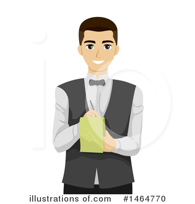 Waiter Clipart #1464770 by BNP Design Studio