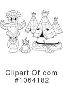 Royalty-Free (RF) Teepee Clipart Illustration #1064182