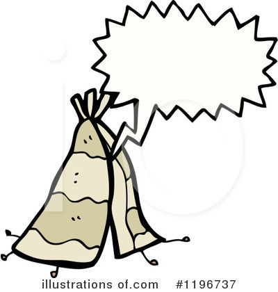 Royalty-Free (RF) Teepee Clipart Illustration by lineartestpilot - Stock Sample #1196737