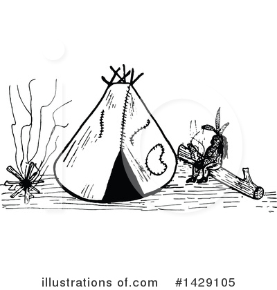 Royalty-Free (RF) Teepee Clipart Illustration by Prawny Vintage - Stock Sample #1429105