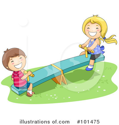 Royalty-Free (RF) Teeter Totter Clipart Illustration by BNP Design Studio - Stock Sample #101475