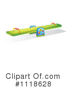 Royalty-Free (RF) Teeter Totter Clipart Illustration #1118628