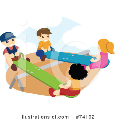 Teeter Totter Clipart #74192 by BNP Design Studio