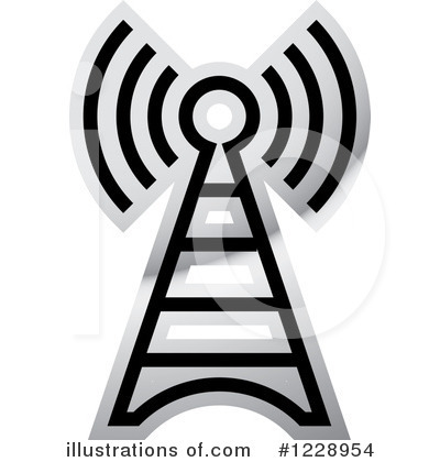 Communications Tower Clipart #1228954 by Lal Perera
