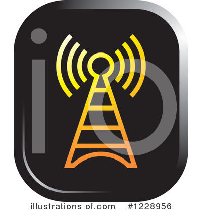 Communications Tower Clipart #1228956 by Lal Perera
