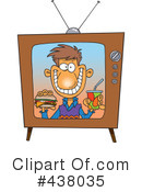 Royalty-Free (RF) Television Clipart Illustration #438035