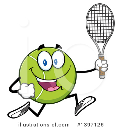 Tennis Ball Clipart #1397126 by Hit Toon