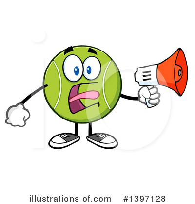 Tennis Ball Clipart #1397128 by Hit Toon