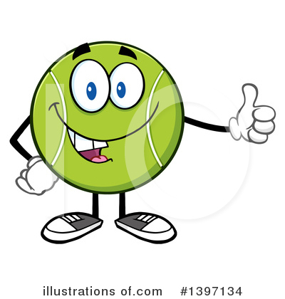 Tennis Ball Clipart #1397134 by Hit Toon