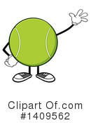 Tennis Ball Character Clipart #1409562 by Hit Toon