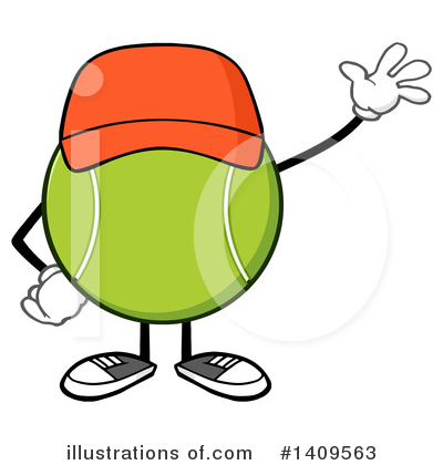 Tennis Ball Clipart #1409563 by Hit Toon