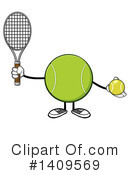 Royalty-Free (RF) Tennis Ball Character Clipart Illustration #1409569