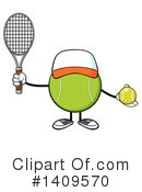 Royalty-Free (RF) Tennis Ball Character Clipart Illustration #1409570