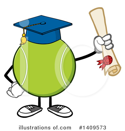 Royalty-Free (RF) Tennis Ball Character Clipart Illustration by Hit Toon - Stock Sample #1409573