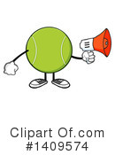 Royalty-Free (RF) Tennis Ball Character Clipart Illustration #1409574