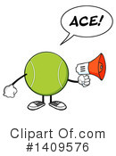 Royalty-Free (RF) Tennis Ball Character Clipart Illustration #1409576