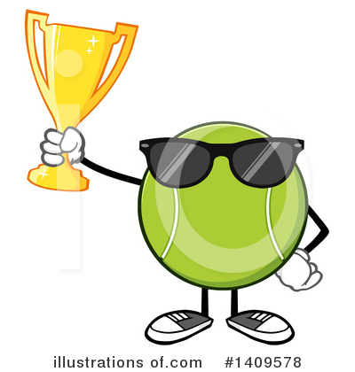 Tennis Ball Clipart #1409578 by Hit Toon