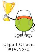 Royalty-Free (RF) Tennis Ball Character Clipart Illustration #1409579