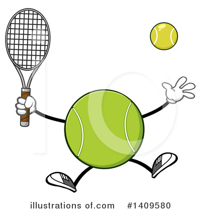 Tennis Ball Clipart #1409580 by Hit Toon