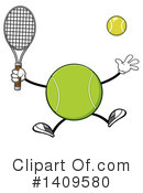 Royalty-Free (RF) Tennis Ball Character Clipart Illustration #1409580