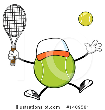 Tennis Ball Clipart #1409581 by Hit Toon